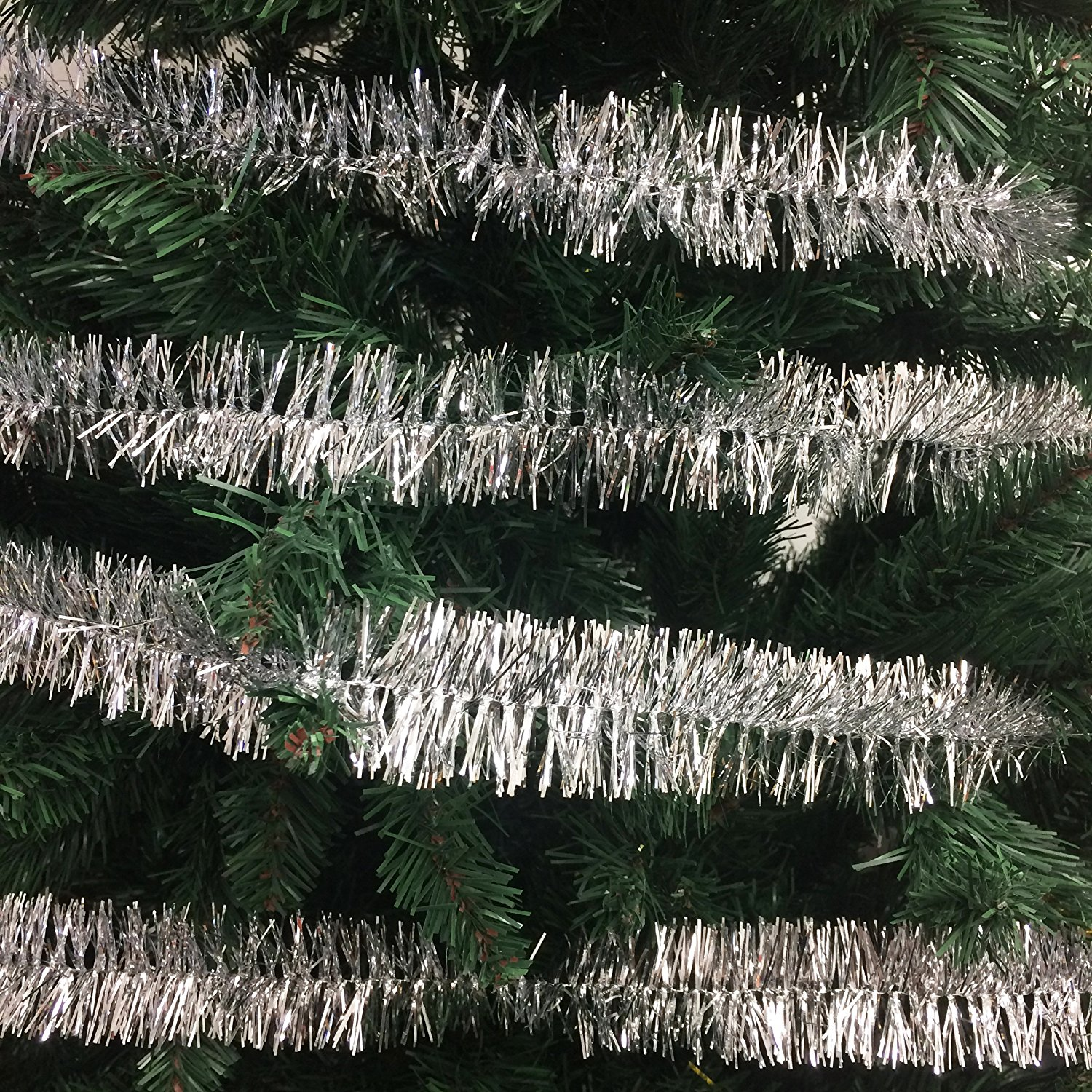 100 Ft Commercial Length Christmas Garland Classic Christmas Decorations Silver