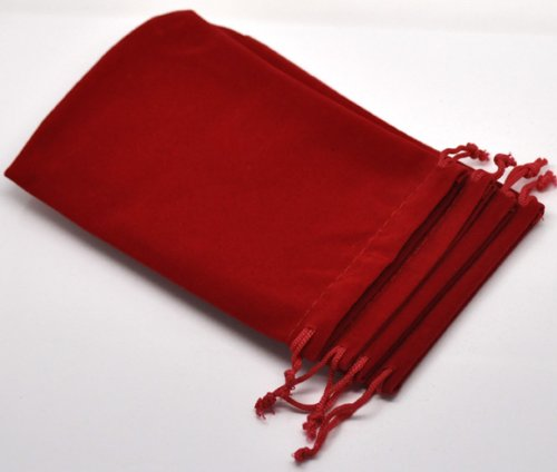 fad2b9625689 10PC Dark Red Velvet Drawstring Pouches Jewelry Gift Bags 15x10cm (5-7/8 x  3-7/8 Inch)